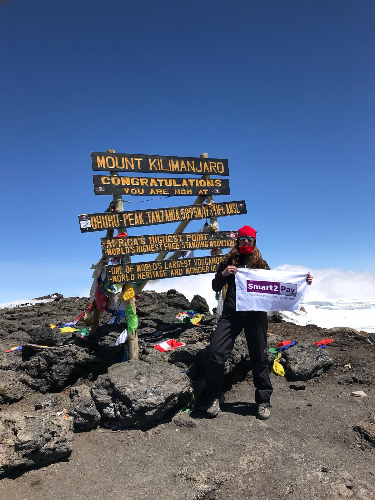 Smart2Pay flag on Kilimanjaro